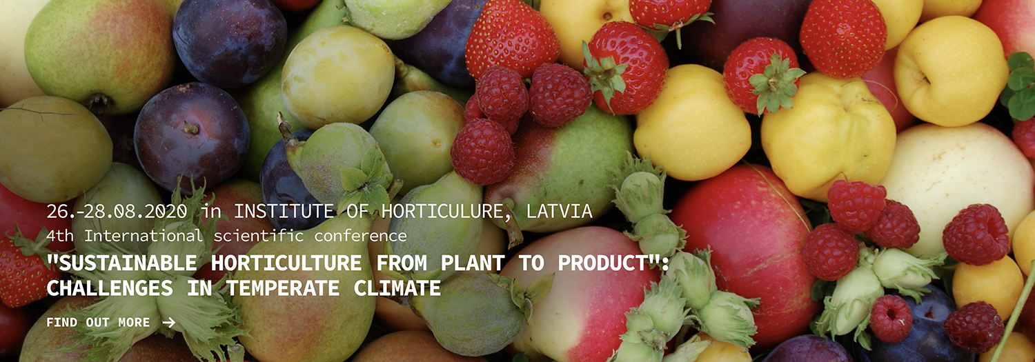 "Sustainable horticulture from plant to product: ""Challenges in temperate climate"""
